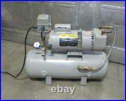 WELCH GARDNER DENVER Model 8170B-30 Vacuum Pump Baldor Motor & Tank