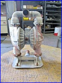 Wilden #8 Aluminum 2 Diaphragm Pump, #514736j Used