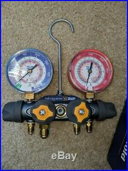 YELLOW JACKET 49967 Titan 4 Valve Test and Charging Manifold with 60 Hoses
