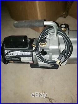 Yellow Jacket 93560 SuperEvac 2 Stage HVAC Vacuum Pump 6 CFM 115V/60Hz Tested