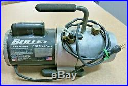 Yellow Jacket Bullet 93600 7 CFM 2 Stage Vacuum Pump Tested & Working Free Ship