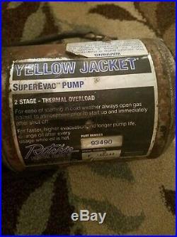 Yellow Jacket SuperEvac Vacuum Pump